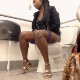 A black girl pisses and shits while sitting on a toilet in a public restroom. Plopping sounds are heard, although audio quality is not perfect. Presented in 720P HD. Over 3 minutes.