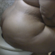 A morbidly obese woman with stretch marks is recorded taking a shit while constipated and then wiping herself sitting on a toilet. Lots of grunting and straining with some audible plops. No poop is shown. About 5.5 minutes.