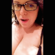 A fat girl wearing glasses records herself shitting into a toilet after spreading her ass for the camera. Poop action is not visible, but it is clearly heard as soon as she sits down. Vertical format video. Over 5 minutes.
