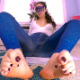 For those of you who like feet and poop, you are in for a double treat. Rachelle shows you her feet, then pulls down her jeggings and takes a shit on the floor. Presented in 720P HD. 259MB, MP4 file. About 12 minutes.