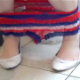 A woman takes a shit while sitting on a toilet in 3 scenes. However, the point of focus is on her feet with different shoes and boots. Loud plops. She wipes her ass and shows us the dirty TP in 2 scenes. 720P HD. 101MB, MP4 file. Over 11.5 minutes.