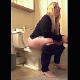 A fat, blonde woman with glasses is recorded taking a shit and a piss while sitting on a toilet. Nice, audible plopping and pissing sounds. She shows disgust while wiping her ass. Vertical format video. Over 4.5 minutes.