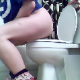 A brunette girl wearing glasses records herself taking a shit. She lifts her ass off the the toilet so we can see the shit coming out. Nice plop sounds. She wipes herself nearby the camera and lets us see her dirty ass.