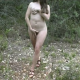 Francesca has some Metamucil and takes a huge dump while in the nude outdoors!
