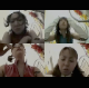 "Four women are shown taking a shit at the same time in a multi-cam, ""Brady Bunch"" style grid presentation. The Japanese will think of anything strange and different for their videos. About 7.5 minutes."