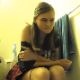 An attractive girl is secretly recorded taking a shit and a piss while sitting on a toilet. Facial expressions are clearly seen from this nice angle with audible pooping sounds. Over 3.5 minutes.