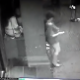 A security camera records a woman shitting into her own hand and then throwing the poop on the ground behind her. WTF? The night watchman obviously was curious and walks out to inspect her poop and records it with his own cell phone camera.