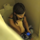 An attractive girl is secretly recorded pissing and shitting while playing with her cell phone sitting on a toilet. Nice, audible pooping sounds before she stands to wipe. Over 5.5 minutes.