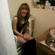 A British girl is video-recorded on what appears to be a hospital-type toilet. Her friend comments that the room stinks, but the girl on the toilet denies it.