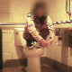 I girl takes a piss while sitting on a toilet, She Changes her position and squats above it to take a shit. Video is heavily flawed at key portions of the clip, unfortunately. Presented in 720P HD. Over a minute.