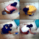 An unseen cameraman secretly video-records 13 unsuspecting college women in Mumbai as they piss into a floor toilet. One of the girls takes a shit. 129MB, MP4 file requires high-speed Internet.