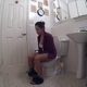 A pretty Hispanic girl records herself taking a piss and a shit while sitting on a toilet. She wipes her ass and shows us her finished product. About 5 minutes.