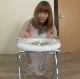 An attractive Japanese girl sets up a potty chair with a plastic bag beneath. She shits into the bag while sitting on the chair. Action is captured with multiple, split-screen angles. Presented in 720P HD. 247MB, MP4 file. About 17 minutes.