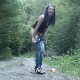 A pretty, brunette Serbian girl takes a shit in the middle of a lonely, secluded gravel road. She wipes her ass and shows us the pile of poop. Over 2 minutes.