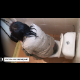 A woman is video-recorded from above the restroom stall wall as she sits on the toilet and blows a nice fart and wipes herself. Unfortunately, she does not shit. Presented in 720P HD video.