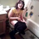 A girl breaks into a bathroom to record her friend pooping. Kind of a fuzzy, shaky video with no audible pooping sounds because of all of the yelling and chatter.