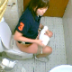 A hidden camera installed in a public restroom somewhere in South Korea records 6 different women pissing into a toilet. No pooping. Audio is very muffled and compressed. Vertical format video. About 10 minutes.