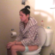 A very slender girl gets the urge to poop late at night. However, she has some constipation issues and struggles for quite awhile before a plop is heard after 4:15 into the clip followed by some pissing. Presented in 720P HD. 101MB. Over 6.5 minutes.