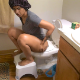 During her period, a pretty, Indian girl takes a gassy soft-sounding, crackling shit while sitting on a toilet and using a posture stool. She describes the foods she recently ate. Presented in 720P HD. Over 10 minutes.
