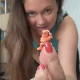 An attractive Eastern-European girl punishes her little plastic Ninja figurine by shoving it up her ass and shitting him out with a big load of crap. Pissing too. Product shown. See # 6213, 6412, 8098, 9009, 9010 & 9011 for more. 11.5 minutes.