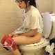 An attractive Asian-American girl wearing glasses records herself taking a shit and a piss while sitting on a toilet. Audible pooping, but no product is shown. Presented in 720P HD. Over 3 minutes.