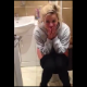 "A cute blonde girl sings that stupid ""Sittin On The Toilet"" song while her friend records. We are not sure if she peed, pooped, or both."