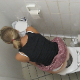 This daring, but crazy cameraman was in the right place at the right time to capture a girl on video taking a shit and then wiping her ass in a public restroom stall. Poop action is visible with full audio and nice-sounding plops! Over 1 minute.