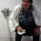 A hidden camera in a public restroom records 5 women pissing and one shitting while sitting on a toilet. Audio is not great, but you can still hear what is going on. Presented in 720P HD. About 6.5 minutes.