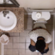 A hidden camera installed into the ceiling of a workplace restroom records several unsuspecting black girls using the toilet. There is one pooping scene and 3 pissing scenes. Presented in about 720P HD. About 7 minutes.