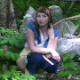 A pretty Eastern-European girl is recorded in voyeuristic fashion as she takes a shit in a wooded, outdoor location. Some poop action is visible between the leaves, and her dirty TP can be seen as she wipes. Presented in 720P HD. About 2.5 minutes.