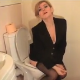 Mary pees into a toilet while standing, she farts, and then sits down on a toilet to fart some more. Her farts are very loud. Finally, Mary poops with a few, nice audible plops. About 12 minutes long.