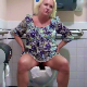 An older, mature woman records herself taking a shit and a piss in a public restroom toilet in 2 scenes. About 4.5 minutes.