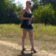 A blonde woman takes a semi-soft, coiling shit in an outdoor location. She wipes her ass and shows us the poop pile on the ground. Full audio track. Presented in 720P HD. Over 520MB. Over 1.5 minutes.