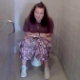 This poop video from France features some girls filming their friend trying to poop in a public toilet. They laugh as she pushes and adds drama to the video. We are not sure if she ends up shitting because she does not wipe her ass.