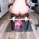 A woman sits on a potty chair and shits onto the face of a masked man beneath her ass. Action is recorded from a picture-in-picture perspective. Somewhat graphic. Warning - male genitalia is visible. 720P HD. 143MB, MP4 file. Over 7.5 minutes.