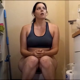 A girl farts a couple of times and takes a shit and a piss while sitting on a toilet. She also belches. Subtle, but audible sounds. About 4.5 minutes.