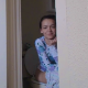 A slender, young-looking girl records herself taking a long piss and a morning shit while sitting on a toilet in her bathroom. Subtle plop sounds and a fart are heard. She stands up to wipe her ass. Over 4 minutes.