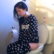 A skinny, but pretty girl sits down on a toilet, cuts a barely audible, airy fart, and takes a shit with a few audible, soft-sounding plops. Some pissing as well. Nice, natural video. Presented in 720P HD. Over 3 minutes.