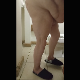 One of our users records his large wife taking a soft, goopy shit into a pizza box. She spreads her ass cheeks to show us her dirty asshole. Product shown on floor. Presented in 720P vertical HD format. Over 2.5 minutes.
