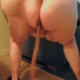 One of our users records his large wife shitting on the floor and making a huge mess. If you want to see a really big woman and soft, sloppy, wet shit with great audio, this video clip is for you!