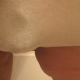 One of our users records his large wife taking a shit in her panties. Her panties are pulled down, and the huge load falls onto the floor. She shows off the mess left on her ass.