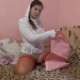A beautiful Eastern-European girl takes a piss & a shit into a large plastic bucket. She gives herself an name afterwards in an attempt to get even more out. Presented in 720P HD. About 8 minutes.
