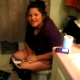 A brief video clip of an Hispanic girl finishing up her poop on the toilet and in need of wiping her ass.