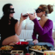 Two masked Brazilian girls enjoy a meal together, then later take turns shitting onto a plate. Two different angles are shown, although the aspect ratio is a little stretched in one of them. Presented in 720P HD. Over 10.5 minutes.