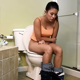 A girl is recorded taking a piss and a wet-sounding shit while sitting on a toilet. Warning - this studio is notorious for dubbing in audio effects, so parts of this clip may not be genuine, live audio. About 5.5 minutes.