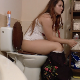 A very pretty and somewhat plump girl is recorded taking a shit while sitting on a toilet. Pooping sounds are audible. Very nice high-quality video. Presented in 720P HD. About 2.5 minutes.