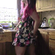An Eastern-European girl stands in her kitchen doing some cleanup. She picks and scratches at her asshole repeatedly. She sniffs her fingers and moves her stinky hand to the camera for us to smell. This is a somewhat off-topic clip. Over 14 minutes.