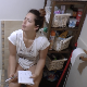 A beautiful, plump, Eastern-European girl records herself taking a hard-sounding shit while sitting on a toilet. Her face shows discomfort as she pushes out the nuggets while compiling her shopping list. Nice plops. Presented in 720P HD. Over 6 minutes.