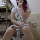 A pretty, plump, Eastern-European girl gets dressed in the morning while sitting on a toilet Piss and shit calmest at the same time with plops heard over her piss stream. She picks at her eyes, nose and other things afterwards. Over 9 minutes.
