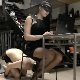 While a pretty, masked Italian girl works at a desk with her computer, a masked man is beneath her ass. When Gaia begins to take a shit, he faithfully remains beneath her ass and takes all she gives him. 720P HD. 133MB, MP4 file. About 9 minutes.